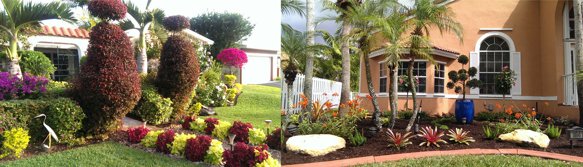 Landscape design broward for Burowand design